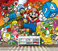 Super Mario Bros Wall Mural Wall Art Quality Pastable Wallpaper Decal Retro