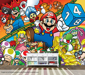 Super Mario Bros Wall Mural Wall Art Quality Pastable Wallpaper