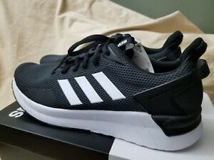 a5c304f43884 Image is loading Adidas-questar-ride-black-and-white-mens-sneakers-