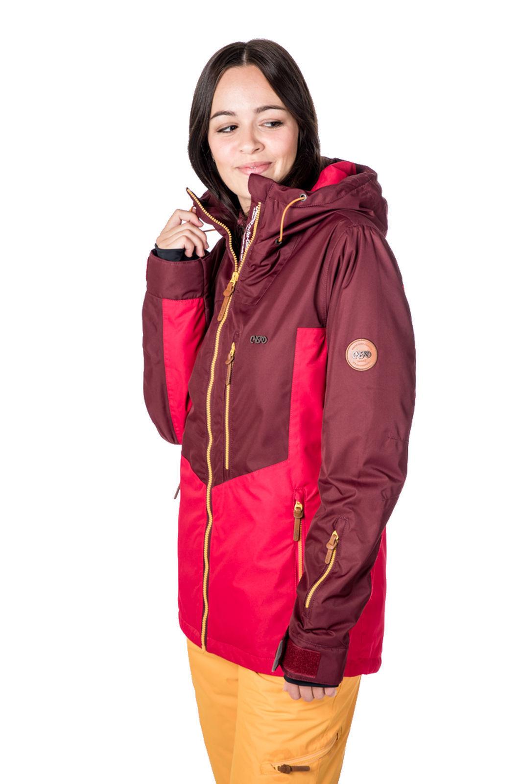 CSNRD Damen Snowboard-     Skijacke GOGO Jacket fuchsia 312bb3