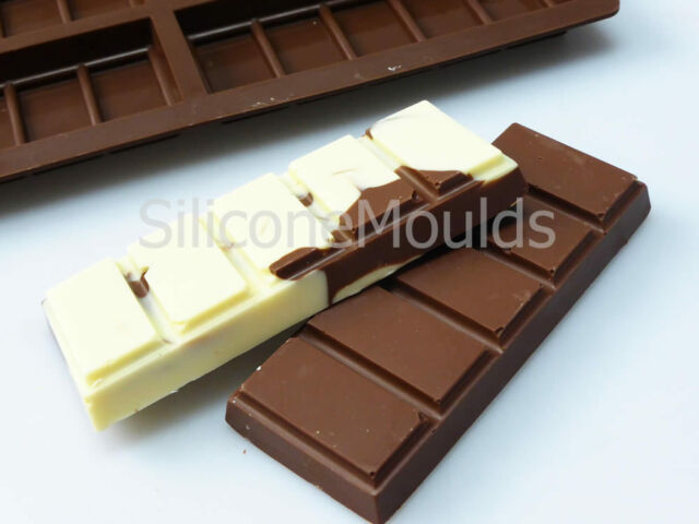 6 cell 5 Chunk Chocolate Bar Candy Mold Professional Chocolatier Silicone Mould