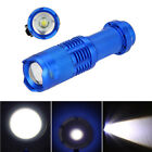 Mini CREE Q5 LED Flashlight Torch 7W 1200LM Adjustable Focus Zoomable Light Lamp