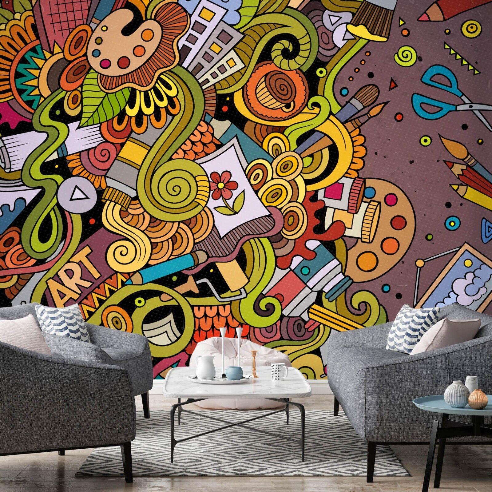 3D Cartoon Graffiti Art 785 Wallpaper Mural Paper Wall Print Murals UK Lemon
