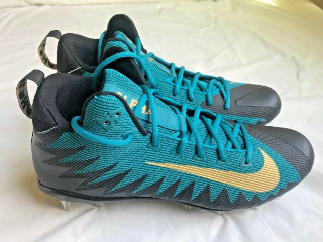 super popular 23566 f497b Nike Alpha Menace Pro Mid Football Cleats Jacksonville Jaguars Sz 12  866012-415