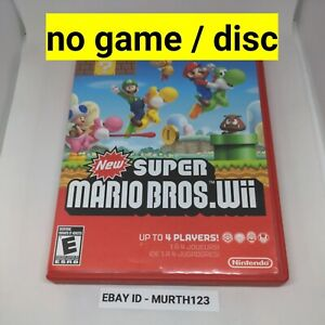 Nintendo Wii New Super Mario Brothers Case And Manual Only NO GAME