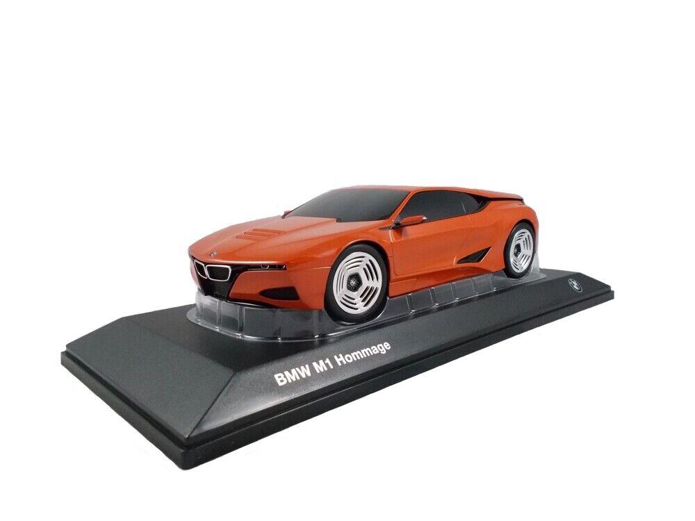 ORIGINALE BMW m1 OMAGGIO COLLECTION MODELLO DI AUTO miniatura scala 1 18 arancia METAL