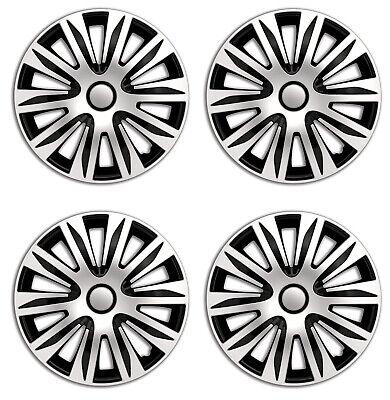 Radkappen 14 Zoll schwarz silber Radzierblenden für Stahlfelgen Opel 83DP