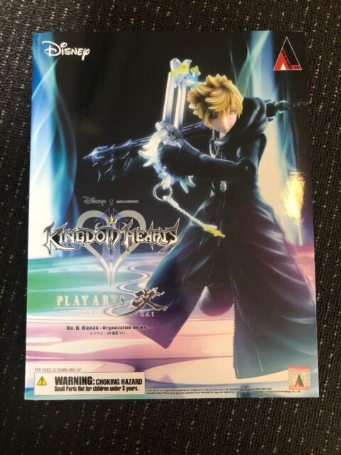 AUTHENTIC Roxas Organisation XIII Ver Play Arts Kai Kingdom Hearts 2 Figure