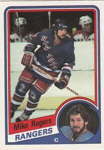 FREE-SHIPPING-NRMINT-1984-85-RANGERS-O-Pee-Chee-152-Mike-Rogers