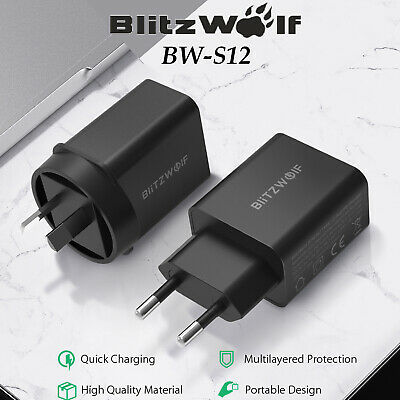 BlitzWolf BW S12 27W QC4.0 PD Type C Port EU AU USB Quick Charge Charger Adapter | eBay
