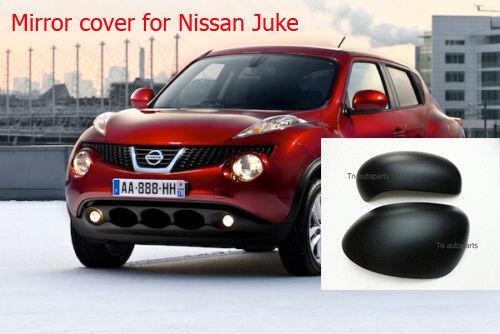 MATTE BLACK MIRROR COVER TRIM L+R FOR NISSAN JUKE 11-15 HATCH BACK SEDAN FIT