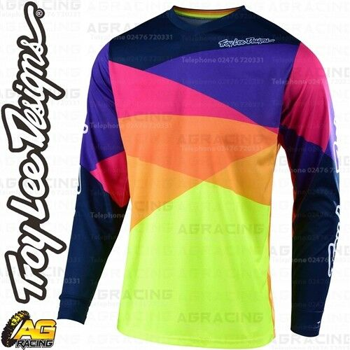 Troy Lee Designs 2019 GP Jet Yellow Navy Youth Race Jersey Shirt MotoX Enduro