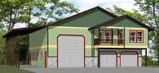 44x48 Apartment with 2-Car 1-RV Garage - PDF FloorPlan - 1,528 sqft - Model 5J