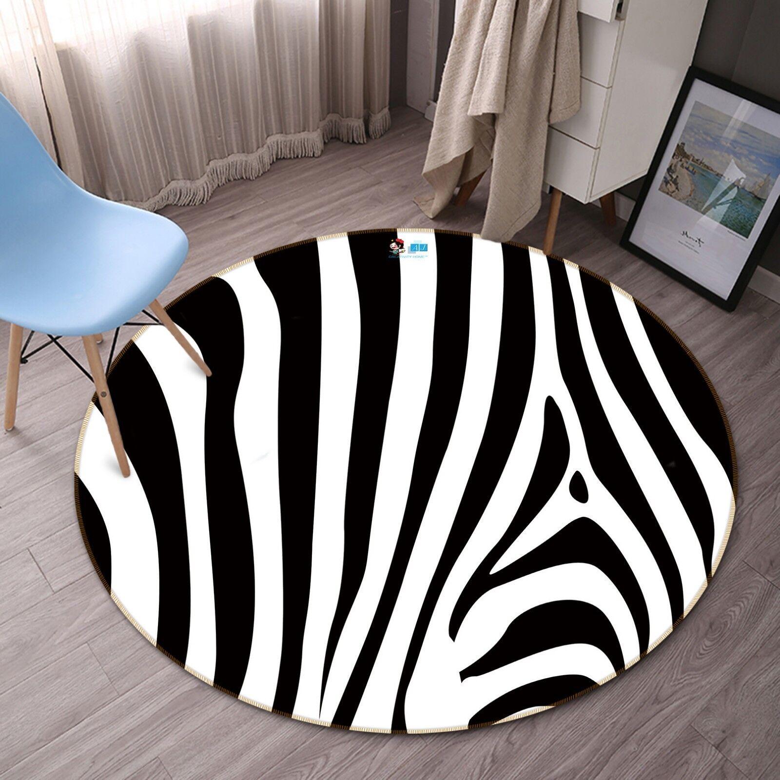 3D linee astratte 5 tappetino antiscivolo tappeto camera Tappetino Tondo Qualità Elegante Tappeto foto