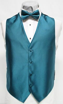 Mens Medium Tuxedo Formal Vest /& Bow Tie Oasis Teal Wedding Groomsmen Tango