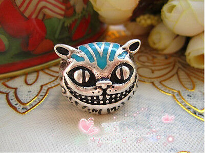 Fashion Retro Unique The Cheshire Cat Anti Silver Ring Size 7