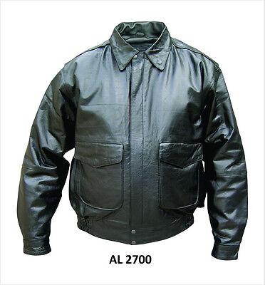 Mens Black Soft Luxurious Lambskin Leather Bomber Jacket