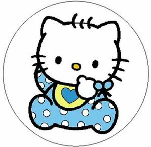 hello kitty baby boy 1 sticker seal labels ebay. Black Bedroom Furniture Sets. Home Design Ideas