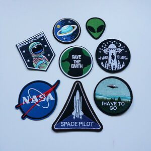 Embroidery-Planet-Alien-UFO-NASA-Sew-Iron-On-Patch-Badge-Bag-Hat-Jeans-Applique