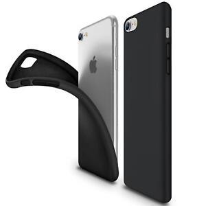 Ultra-Slim-Case-iPhone-7-Handy-Huelle-Schutzhuelle-Silikon-Cover-Schwarz-Tasche