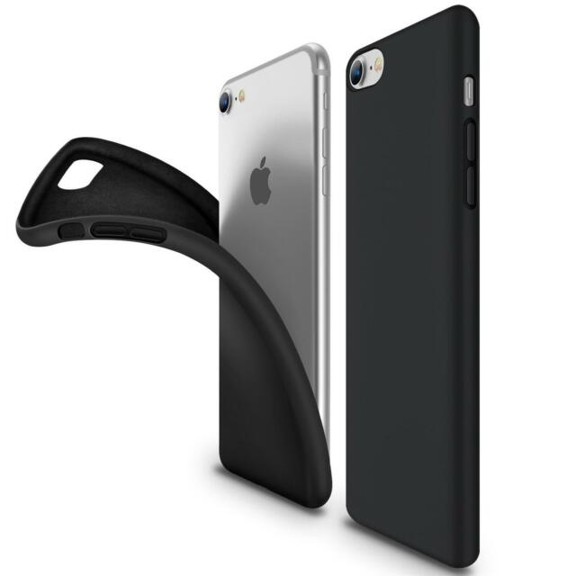 Ultra Slim Case iPhone 7 Handy Hülle Schutzhülle Silikon Cover Schwarz Tasche