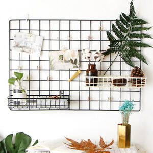 Wire Metal Hanging Basket Grid Panel For Dispaly Wall