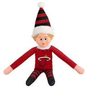 Miami Heat Plush Christmas Elf Nba Doll On The Shelf Stuffed Toy