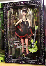 BARBIE Hard Rock Cafe Barbie Doll GOTH PUNK Gold Label 2008 NRFB
