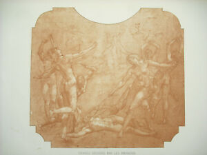 Photoengraving-1874-Orpheus-Ripped-Per-the-Maenads-Cardboard-Mp-Baudry