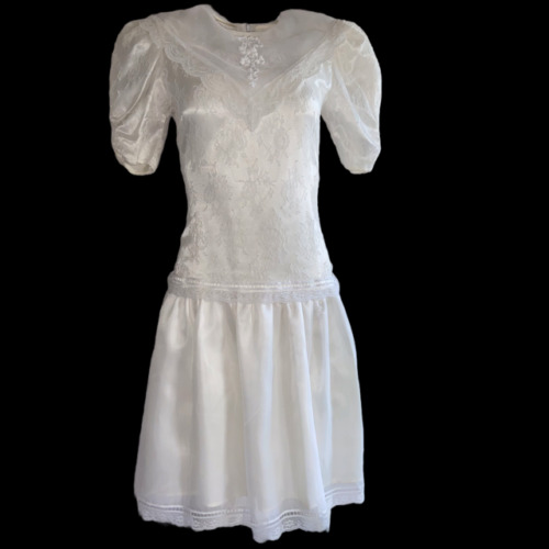 Gunne Sax Ivory Dress Girls Short Sleeve Jessica … - image 1
