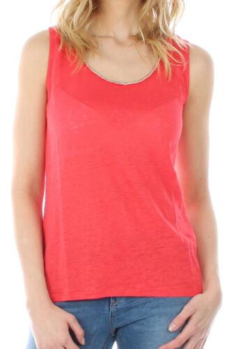 KOCCA 59€ Gunir Top rot Damen Shirt ärmellos casual fashion Neu