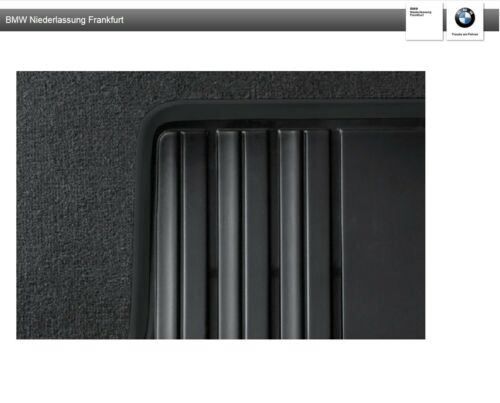 Original BMW Satz Allwettermatten hinten 3er F30 F31-4er GC F36 Anthrazit