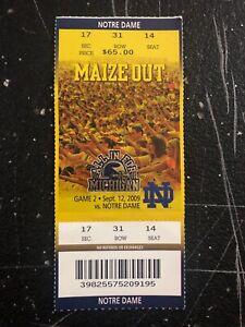 2009 Michigan Wolverines Notre Dame Fighting Irish ...
