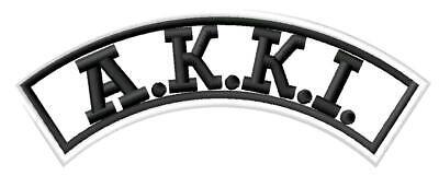 Kenpo KANJI karate IRON ON PATCH Aufnäher Parche brodé patche toppa Black kempo