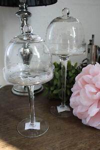 Glasglocke-Haube-30cm-und-25cm-Dekoration