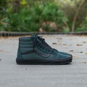 Vans-SK8-HI-Reissue-Metallic-Twill-Darkest-Spruce-Men-039-s-Shoes-7-5-Women-039-s-9