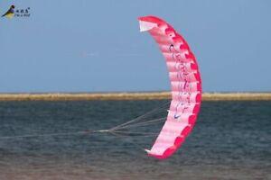 Kite-Parachute-Rainbow-Sports-Beach-Beginner-Outdoor-Fun-Dual-Line-Stunt