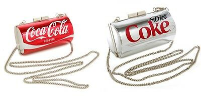 RED CLASSIC COCA-COLA+GREY,GRAY DIET COKE CAN CROSSBODY,PURSE BAG NEW IN BOX