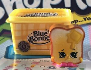 SHOPKINS Oh So Real TOASTIE BREAD + BLUE BONNET Butter ...