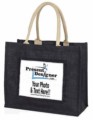 Q große schwarze Einkaufstasche Weihnachten Geschenkidee, presentd-2blb
