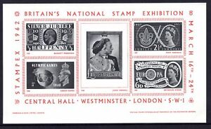 Great-Britain-National-Stamp-Exhibition-1962-numbered-miniature-sheet