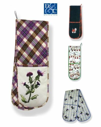D/&C Supplies 100/% Cotton Double Oven Glove Mitts in Various Designs