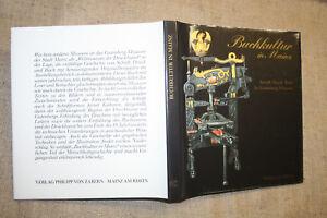 Druck Buchkunst Buchdruck Gutenberg Alte Bücher 1985 Einen Effekt In Richtung Klare Sicht Erzeugen Qualifiziert Sammlerbuch Schrift