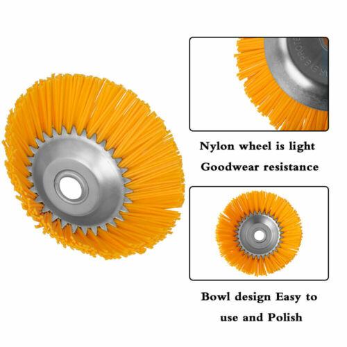 8/'/' Nylon Wheel Brush Trimmer Head Weeding Brush Lawn Mower Head 1/'/' Inner Hole