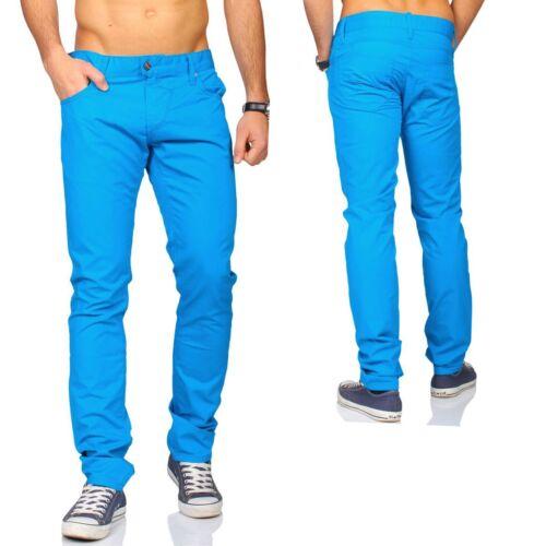 Rerock Hommes Pantalon Slimfit Mince Coupe Fuselé Legs été Transition 3351