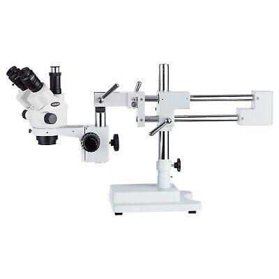 HBFFL 7X-45X Simul-Focal Trinocular Zoom Stereo Microscope Head with Auxiliary Lens