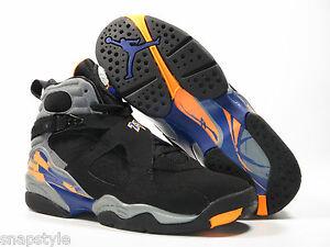 Air Jordan 8 Black Orange