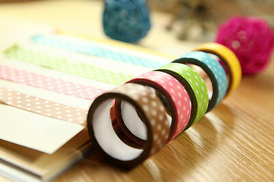 15mm Wide DIY Flower Decorative Craft Paper Washi Tape Decor Making Sticker