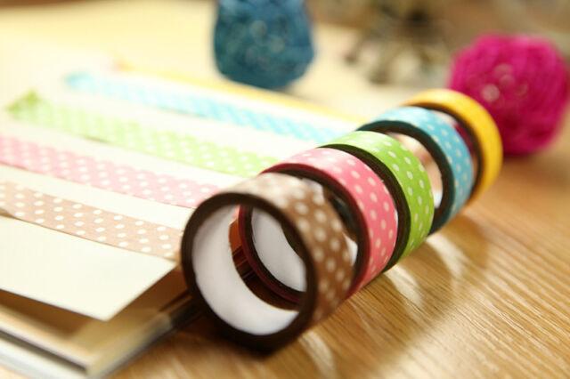 15mm Wide DIY Flower Decorative Craft Paper Washi Tape Decor Making Sticker