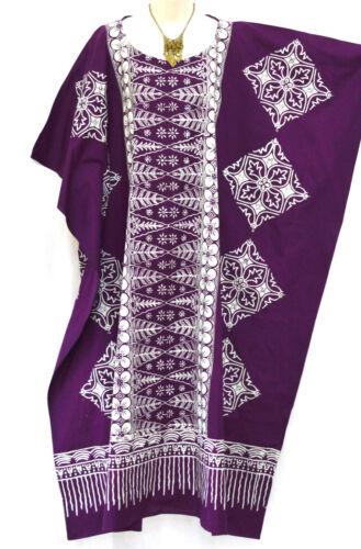 Malaya 100/% Baumwolle Kaftan Damen Top maxi lange Tunika batik Curve kurvige